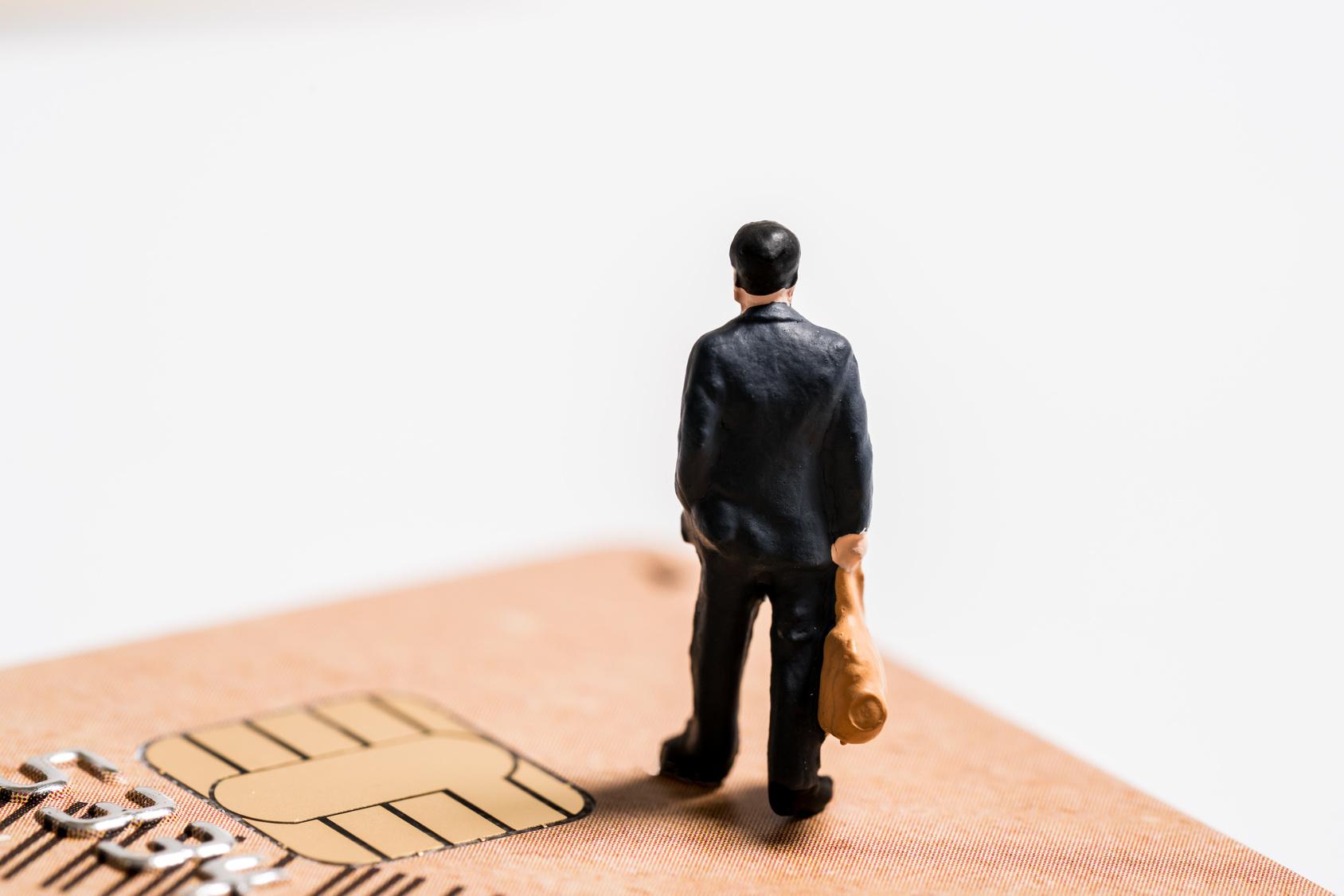 ビジネスマン, クレジットカード